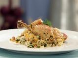 Пиле с ориз и коприва на фурна
