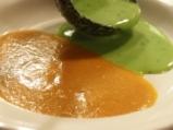 Зелено-оранжева крем супа 5