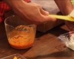 Фусили с патладжан, сирене чедър и шунка 3