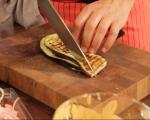 Фусили с патладжан, сирене чедър и шунка 5