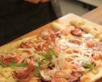 Пица с прошуто и смокини 6