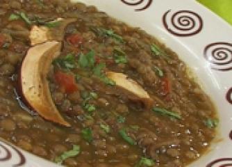 Супа от леща с манатарки