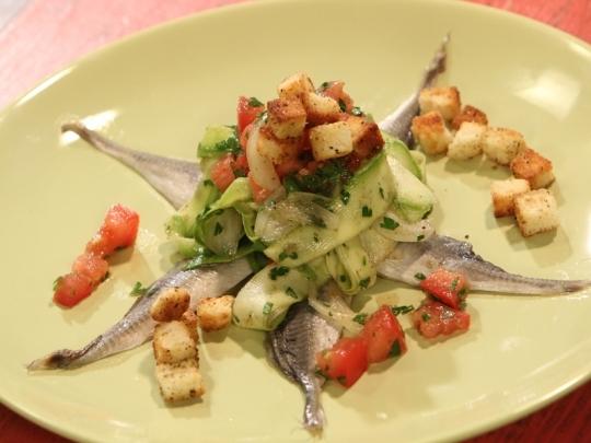Маринован сафрид със зеленчуци и пика...