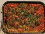 Кюфтета с ориз на фурна