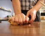 Обърнат тарт с карамелизиран праз 2