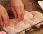 Пилешки бутчета с маслини на фурна
