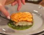 Костур с моркови и зелен сос 5