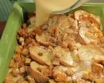 Хлебен пудинг с ябълки и ром  5