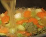 Пилешка супа с магданозени кнедли 4