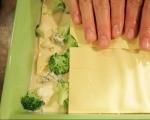 Лазаня с броколи и сирена 3