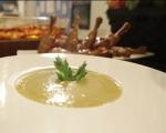 Супа от земни ябълки с печени пилешки бутчета  5
