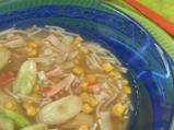 Царевична супа с рулца от раци