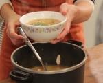 Пилешка супа с нахут и печени чушки  6