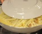 Хрупкави картофени тиганици с гъби и лук 4
