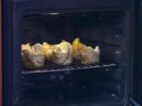 Крамбъл с ябълки, банани и праскови 4