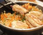 Пиле във вино 3