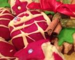 Бисквитени къпкейкове със захарен фондан