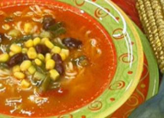 Царевична супа с боб и фиде