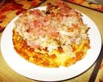 Мусака с кисело зеле върху картофена палачинка 4