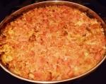 Мусака с кисело зеле върху картофена палачинка 3