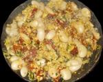 Бъркани яйца с боб и чушки 4