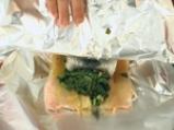Руло от пъстърва със спанак в сос от рукула 3