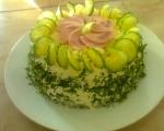 Солена палачинкова торта 4
