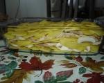Печени картофи с гъби и топено сирене