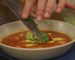 Бърза пилешка супа с тортили 8