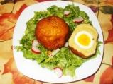 Яйца, облечени в картофи
