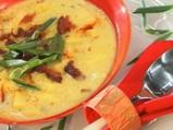 Млечна картофена супа с бекон